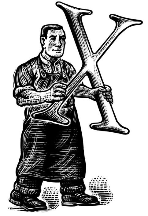 MetroWerks scratchboard illustration by Bill Russell